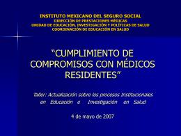 INSTITUTO MEXICANO DEL SEGURO SOCIAL …