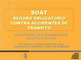 SOAT SEGURO OBLIGATORIO CONTRA ACCIDENTES DE …
