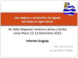 Uso seguro y productivo de aguas servidas en agricultura