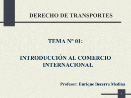 DERECHO DE TRANSPORTES