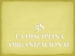 5S LA DICIPLINA ORGANIZACIONAL