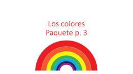 Los colores Paquete p. 3