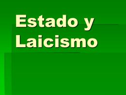 LAICISMO Y ESCUELA