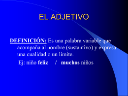 EL ADJETIVO - Epiphany Catholic School