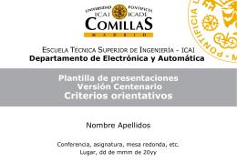 Plantilla presentaciones ICAI