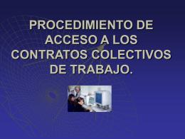 PROCEDIMIENTO DE ACCESO A LOS CONTRATOS …