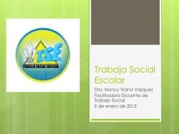 Trabajo Social Escolar