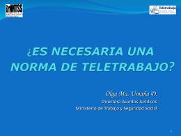 TELETRABAJO EN EL DERECHO LABORAL