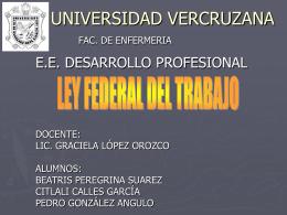 CONDICIONES DE TRABAJO - Desarrollo Profesional
