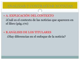ANALIZAR Y CONTRASTAR NOTICIAS