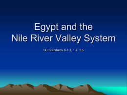 Egypt and the Nile River Valley System
