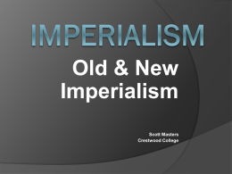Old & New European Imperialism