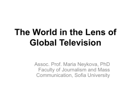 The World in the Lense of Global Television
