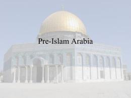 Pre-Islam Arabia
