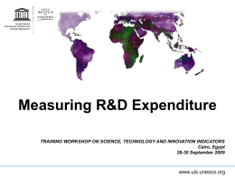 Measuring Research and Experimental Development