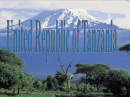 Tanzania Global Impact PPT Presentation