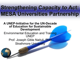 UNEP AND INDUSTRY - Strathmore University