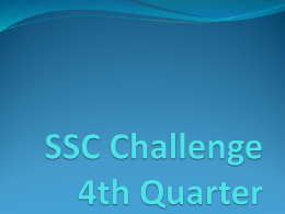 SSC Challenge 4th Quarter