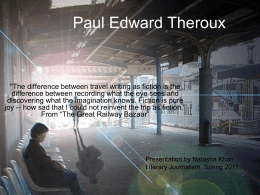 Paul Edward Theroux - Makerere University