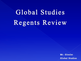 Giesler Global Studies Regents Review