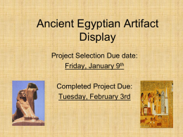 Ancient Egypt - Monroe Township School District