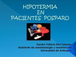 HIPOTERMIA EN PACIENTES POSPARO CARDIACO …