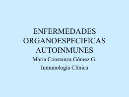 ENFERMEDADES ORGANOESPECIFICAS AUTOINMUNES