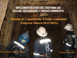 INVERSIONES MINERAS DEL SUR S.A. UNIDAD ANTAPITE
