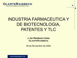 INDUSTRIA FARMACEUTICA Y DE BIOTECNOLOGIA, …