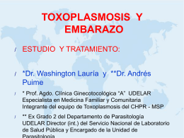 TOXOPLASMOSIS Y EMBARAZO - SOGIU