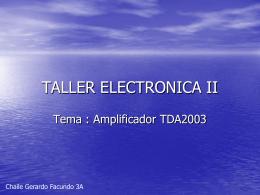 TALLER ELECTRONICA II