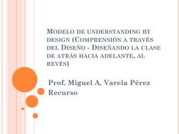 Modelo de understanding by design