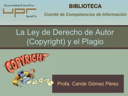 Plagio - Biblioteca Enrique A. Laguerre