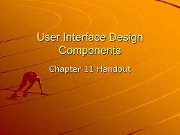 User Interface Design Components