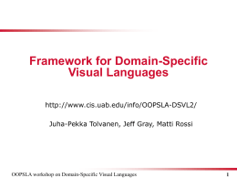 Framework for Domain-Specific Visual Languages