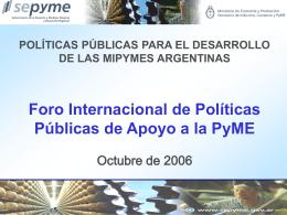 El Fondo Nacional de Desarrollo para la MiPyME …