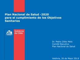 Plan Nacional de Salud -2020 para el cumplimiento de los