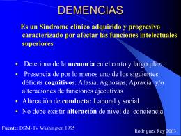 DEMENCIAS - Facultad de Medicina