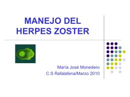MANEJO DEL HERPES ZOSTER - Docencia Rafalafena | …