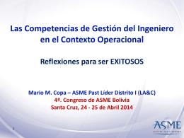 Presentacion ASME Distrito I LA&C