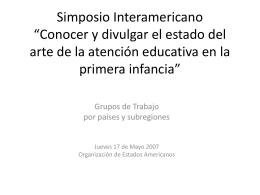 """Simposio Interamericano """"Conocer y divulgar el estado del"""