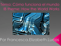 Tema: Como funciona el mundo IB theme: How the world …