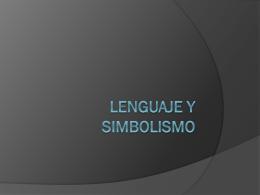 Lenguaje y simbolismo
