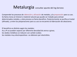 metalurgia - UTN