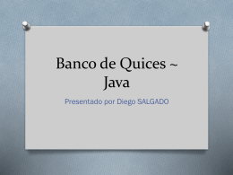 Banco de Quices ~ Java