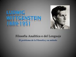 Ludwig WITTGENSTEIN 1889-1951