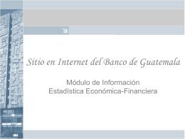 Sitio en Internet del Banco de Guatemala
