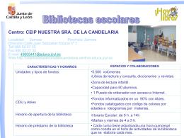 """Diapositiva 1 - CEIP """"La Candelaria"""""""