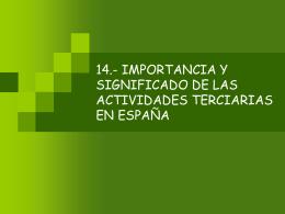 13.- IMPORTANCIA Y SIGNIFICADO DE LAS ACTIVIDADES