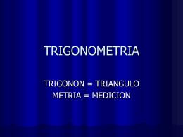 TRIGONOMETRIA MEDICION DE TRIANGULOS